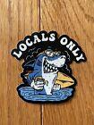 Locals ONLY SHARK 3x3 Vinyl Sticker - Shark Week Jaws Great White Locals Rule