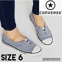 Converse Womens Shoes Chuck Taylor All Star Cove Slip-on Blue Chambray Size US6