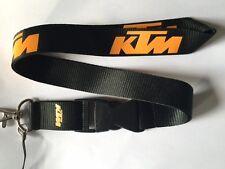 KTM Cordón Nuevo Negro-Reino Unido Vendedor-Correa de Llavero ID Holder Teléfono del Coche