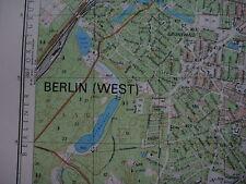 Schöneberg Westberlin Mauer Berlin Wall city map topographische Karte MfS NVA