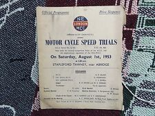 Programa de ensayos de velocidad de ciclo de motor de 1953 1/8/53 - Stapleford Tawney abreviar