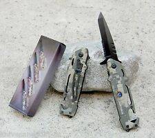 """7.5"""" Camo Helicopter Air Force Tactical Rescue Spring Assisted Pocket Knife"""