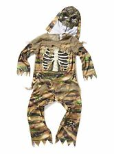 Halloween Costume Zombie Outfit Set with Mask Size 9-10 years
