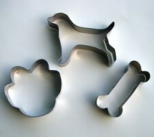 Dog Bone Paw Fondant Baking Pastry Biscuit Stainless Steel Cookie Cutter Set