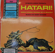 "OST - SOUNDTRACK - HATARI HENRY MANCINI 12"" LP (M184)"