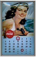 More details for coca cola / coke :embossed (3d) steel/metal  advertising sign/calendar 30x20cm