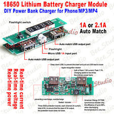 USB all-in-one LED Display 18650 Lithium ion battery charger module for Phone 5V