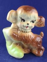 Vintage American Bisque Spaniel Puppy Planter