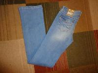 Aeropostale Chelsea Womens Juniors Distressed Low Rise Slim Fit Bootcut Jeans
