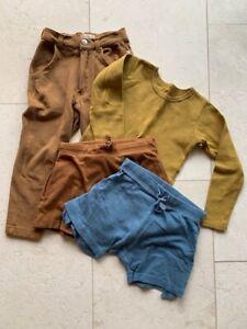 Minimalisma organic cotton ethical boys bundle trousers top shorts 3-4y 4-5y