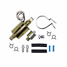 Universal 12V 2-4 PSI External Electric Fuel Pump w/Installation Kit Replacement