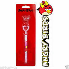 Licensed Angry Birds Girls Pink Ball Memo Pen With Hook
