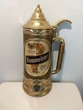 Vintage Braumeister Beer Sign Bar Man Cave Stein Gas Oil Soda Brewery
