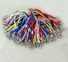 100pcs/Lot mix colors Mobile Cell Phone cords Strap Lariat Lanyard Lobster Clasp