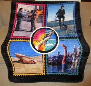 New Wish You Were Here Pink Floyd Tie Dye Thick Plush Throw Gift Blanket Fleece