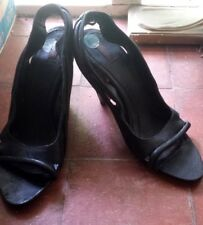 Stunning Diesel Italian 100% Leather Black Heels (UK 6.5 EU 40, RRP £185)