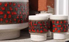Dümler&Breiden Keramik Set 60s Fat Lava 802 WGP MidCentury Vintage ArtPottery DB