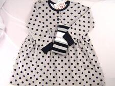 New NWT Hanna Andersson Playdress & Tights Gray Black Polka Dot Striped 90 3 3T