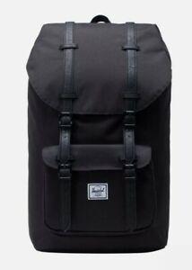 "Herschel Little America Supply Co. Light Backpack In Black, 25L Fit 15"" Laptop"