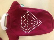 Great Choice Dog Sweatshirt Fuschia With Sequins Diamonds Large New
