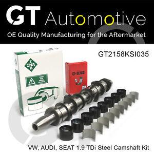 VW AUDI SEAT STEEL CAMSHAFT KIT: 1.9 TDi BXE BKC BRU 038109101R INA LIFTERS