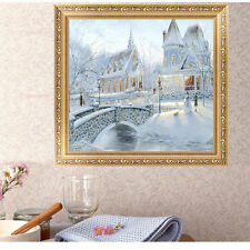 5D Diamond DIY Painting Winter Snow Castle Cross Stitch Embroidery Home Decor