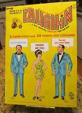 Vtg 1969 UNCUT Paper Dolls ROWAN & MARTIN'S LAUGH-IN