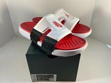 Nike Jordan Hydro 8 Retro White Black Red Men Sports Sandals Slides CZ3607-100