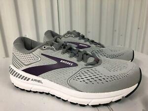 Brooks Ariel 20 Grey Purple 3M Silver 8 WIDE WIDTH 120315 1D 009 18 Running Shoe