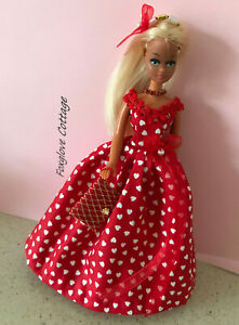 VALENTINES DITSY HEARTS Outfit  for 6.5 inch Vintage Pippa or Dawn  Doll
