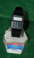 Vintage Casio Calculator Stopwatch Watch Black Plastic Instructions FOR PARTS