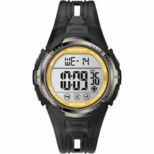 Mens Timex Marathon Indiglo Black Rubber Sports Alarm Digital Watch T5K803