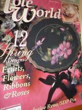 Decorative Painting Tole World Magazine June 2001