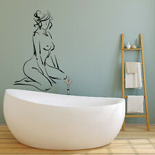 Vinyl Wall Decal Abstract Erotic Naked Girl Woman For Bathroom Stickers (2932ig)