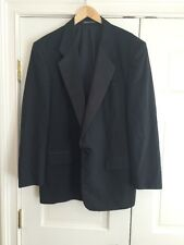 Pierre Balmain One Button Tuxedo Jacket 100% Wool Black Mens Sz 43 Long