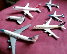 VINTAGE lot of 6 Ertl/Schabak/herpa Areo MINI Air Force Planes Die Cast. 747/TWA