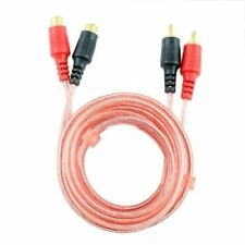 6 FT 2 RCA Jack Stereo Dual RCA Audio Male to Female Extension Cable Red 6 Feet
