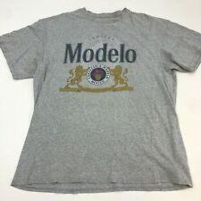Modelo T Shirt Men's Size XL Short Sleeve Gray Crew Neck Cotton Blend