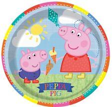Girls Boys Toddlers Birthday Party Paper Tableware Plates Peppa Pig George