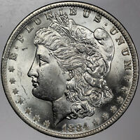 1884-O MORGAN SILVER DOLLAR GORGEOUS PROOF LIKE PRIME UNC VIBRANT BU (MR)