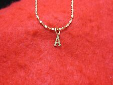 14KT  GOLD EP 20 INCH 2MM TWISTED NUGGET CHAIN  NECKLACE WITH YOUR INITIAL
