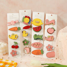 5Pcs/Set Fruit Flower Baby Girl Hair Clip Hairpin Baby Hair Clips Barrettes Clip