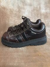 Vintage 90s Skechers Toffy Brown Leather Platform Chunky Sole Shoe Women's 6.5