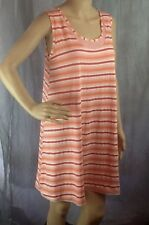 BN JacquelineDesignsUK Stripe orange & peach Jersey short dress size 12/14.