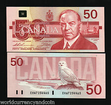 CANADA 50 DOLLARS P98A 1988 KING SNOWY OWL KING UNC THIESSEN / CROW MONEY NOTE