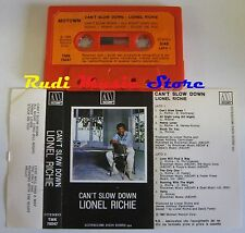 MC LIONEL RICHIE Can't slow down 1983 MOTOWN PRIMA STAMPA ITALY no cd lp **