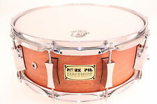 Pork Pie P'lux 5x14 Mahogany Snare Drum (Flat Clear) NEW * WORLD