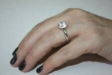 Engagement Ring 14K White Gold Anniversary H 2.50 Ct Round Cut F Vs2 Diamond