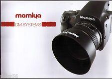 MAMIYA DM DIGITAL BACK SYSTEM CATALOG/BROCHURE (ORIGINAL PRINT JAPAN/not copies)
