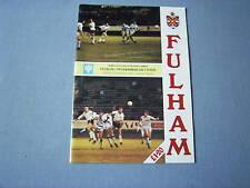 FULHAM v PETERBOROUGH UNITED 1991-92 FL Div 3